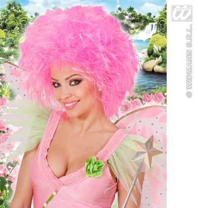 Perücke - Fairy - Fee neon pink