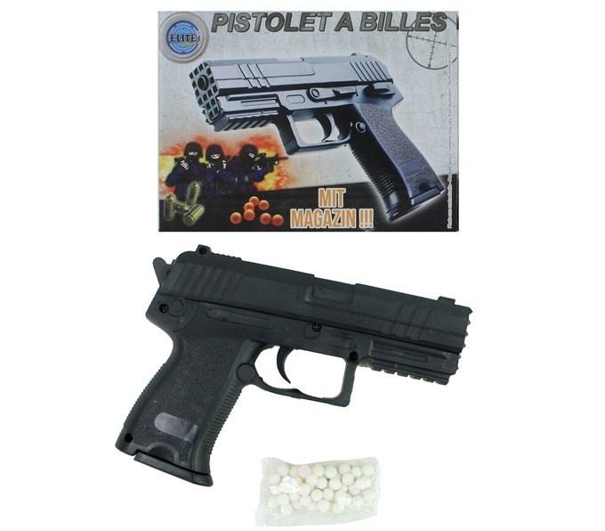 Kugelpistole mit Magazin max 0,5J - ca 15cm