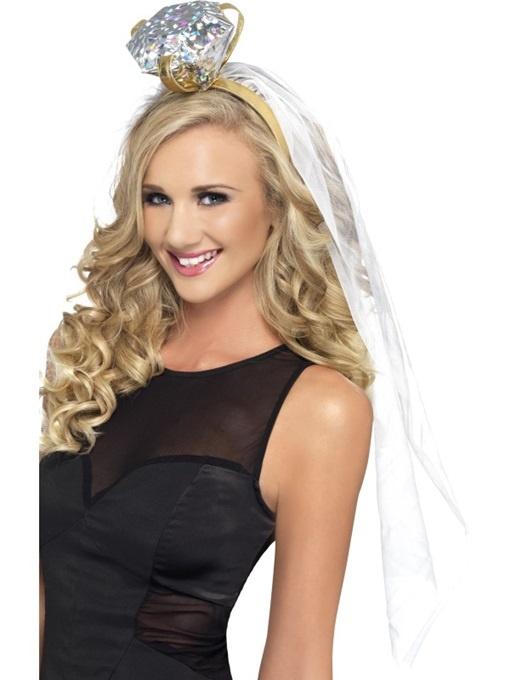 Haarreif Verlobungsring mit Schleier