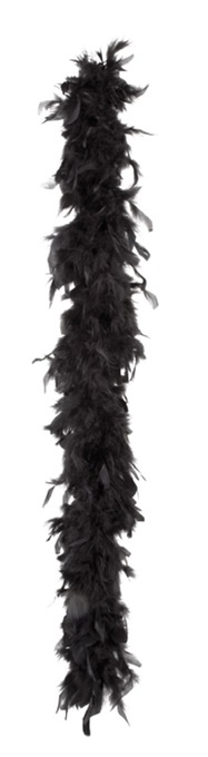 Federboa schwarz 50g -  ca 180 cm