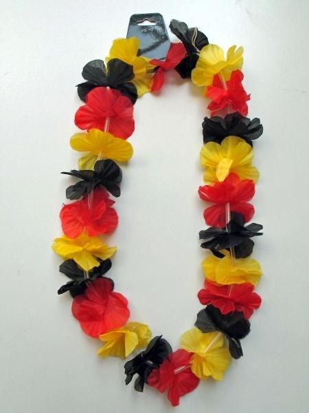 Blütenkette in Deutschlandfarben, ca. 100 cm