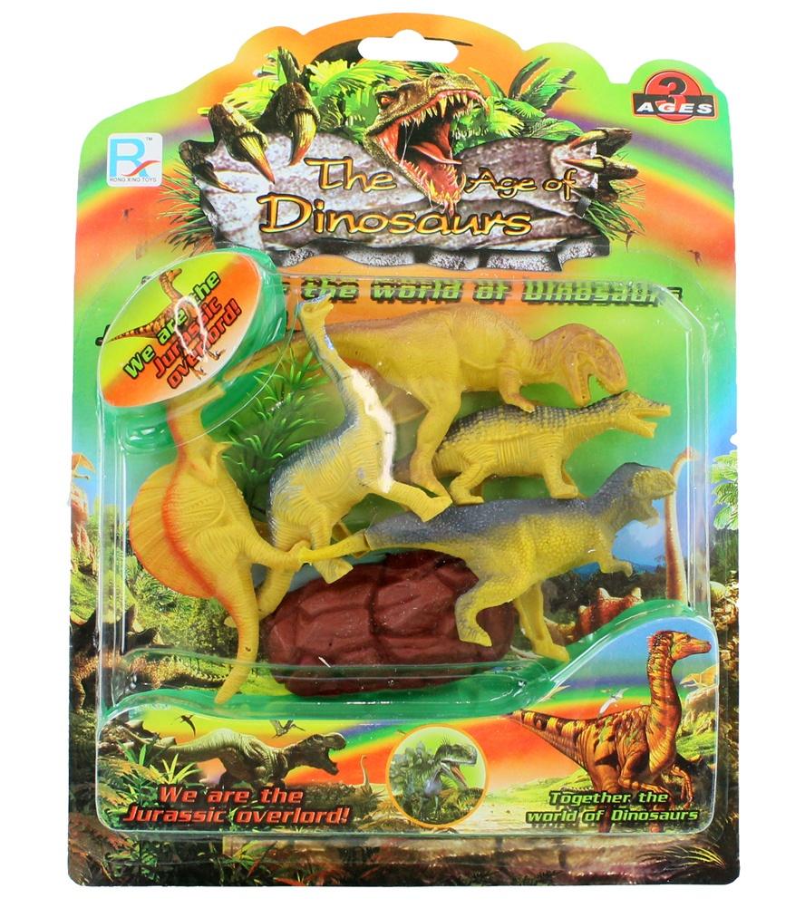 Dinosaurier Set auf Karte ca 28,5 x 21 cm