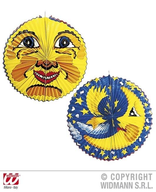 Lampion Sonne und Mond  sortiert ca 60 cm