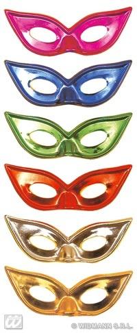Augenmaske metallic 6-fach sortiert