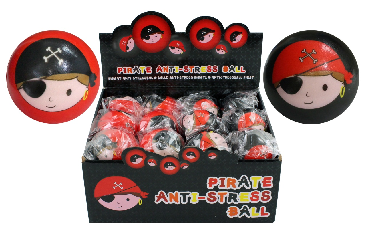 Ball Antistressball Pirat 2-fach sortiert ca 60 mm