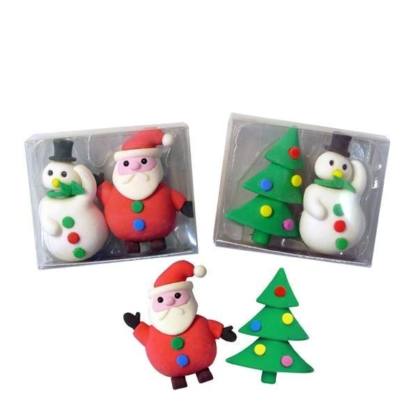 Radiergummi Weihnachts Winter Motive 2er Set 3-fach sortiert