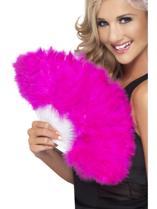 Fächer mit Marabou pink - ca 50cm