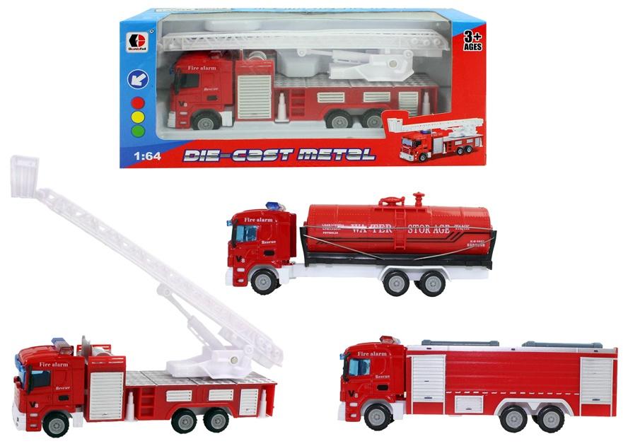 Feuerwehrfahrzeug 3-fach sortiert in Box ca 20 x 9 x 6,5 cm