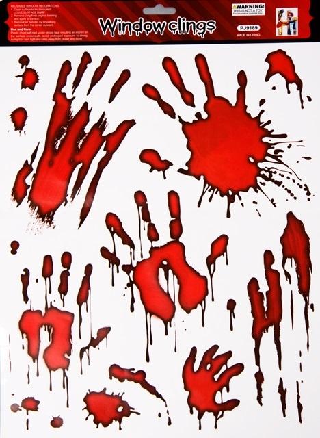 Aufkleber blutige Handabdrücke