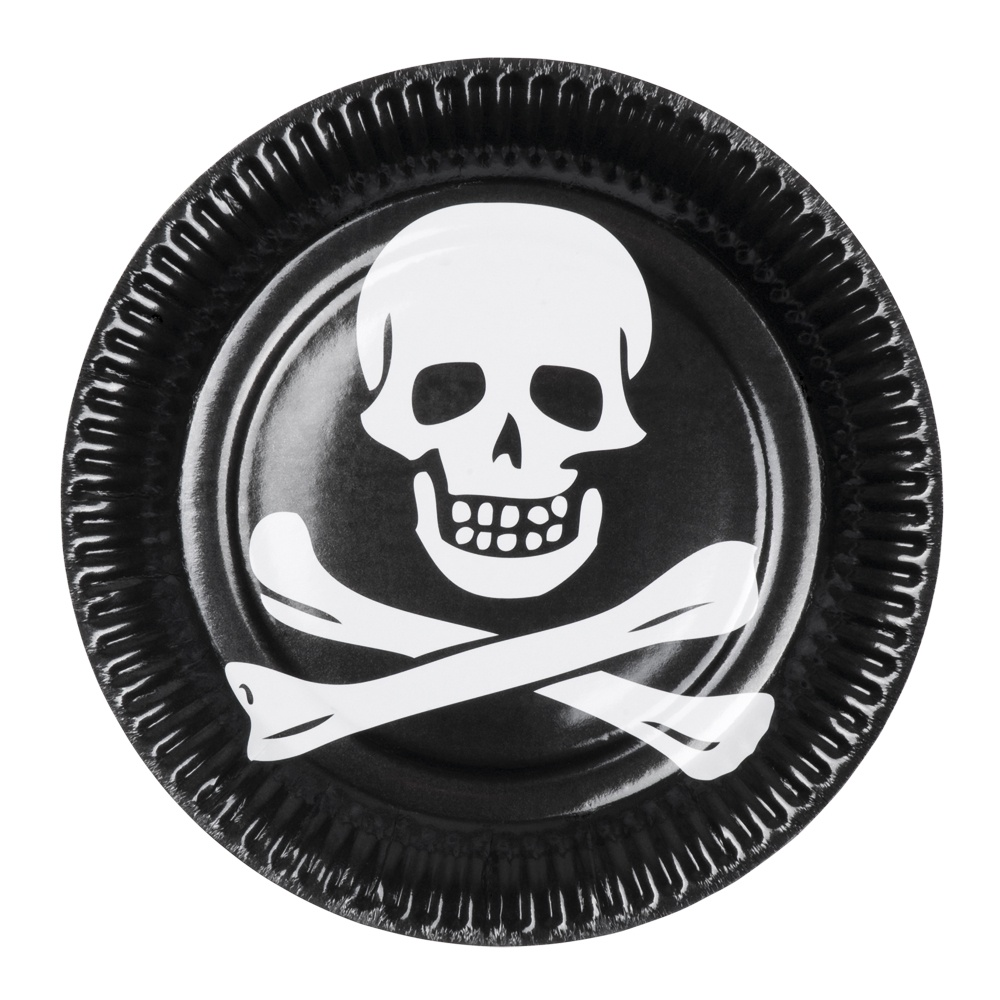 Teller - Pirat 6 Stk - ca 23cm