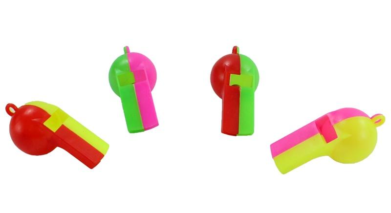 Trillerpfeife 4 Farben sortiert - ca 5,5 cm