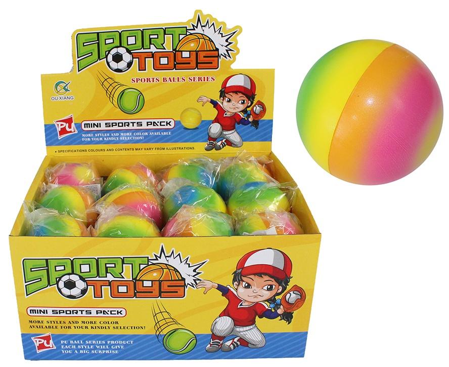 Ball Softball regenbogenfarbig ca 60 mm