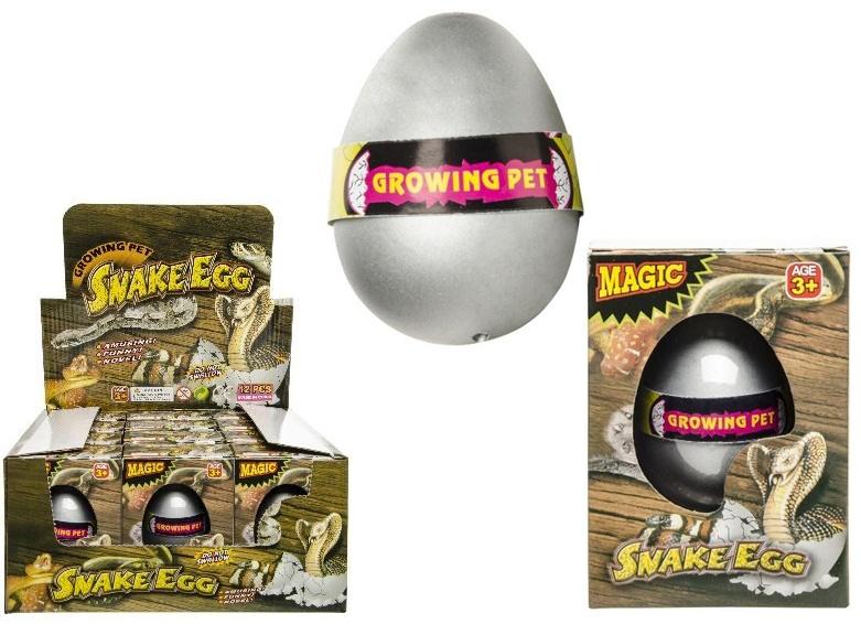 Schlangen-Ei in Schachtel - ca 10,5x7,5x5,5cm