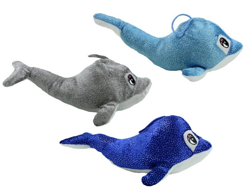 Delfin glitzernd 3-fach sortiert liegend ca 25 cm