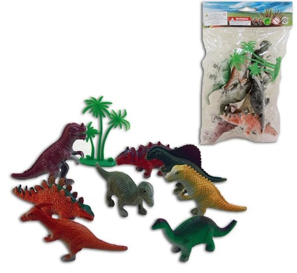 Dinosaurier  8 Stück im Beutel sortiert - ca 12x19 cm