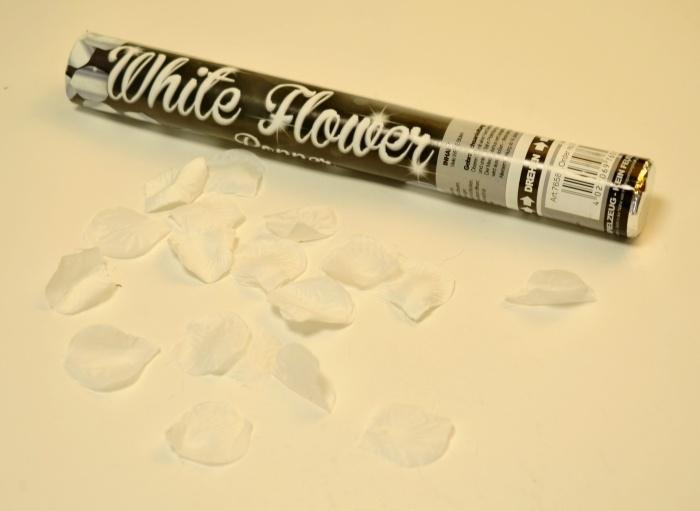 Party Popper Weiße Blüten, ca 40cm