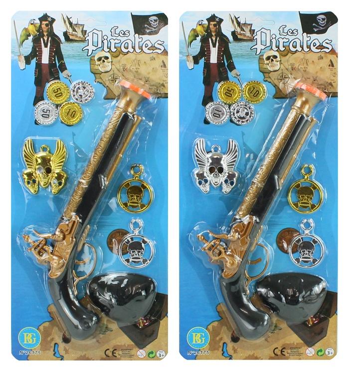 Piratenpistole mit Zubehör ca 29 cm