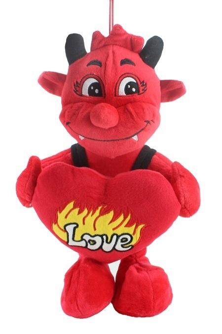 Teufel rot mit Latzhose ca 42 cm