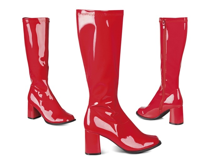 Stiefel Retro rot Größe 37
