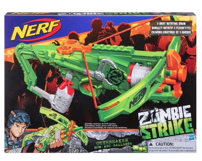 Hasbro Nerf - Zombie Strike - Outbreaker Bow - Armbrust