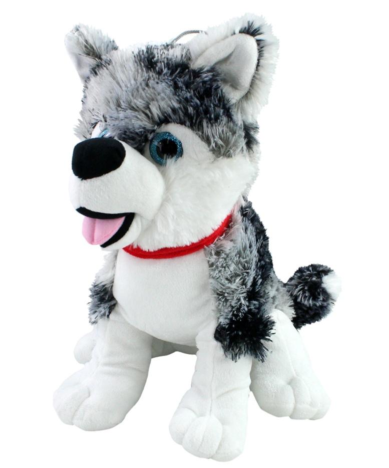 Husky mit Glitzeraugen ca 35 cm