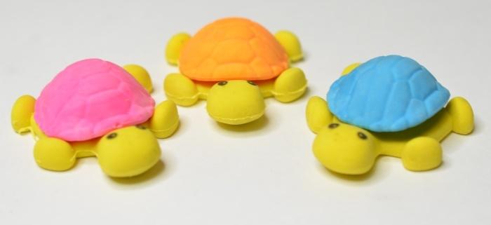 Radiergummi Schildkröte, 3-fach sortiert ca 4,5 cm
