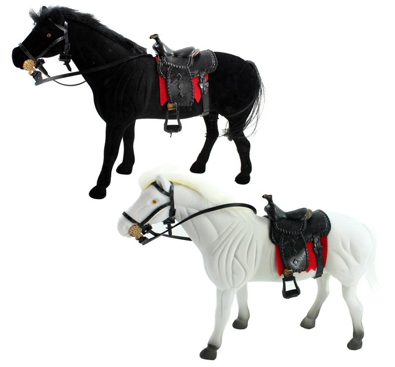 Fliska Pferd mit Sattel 2 farbig sortiert ca 29 cm