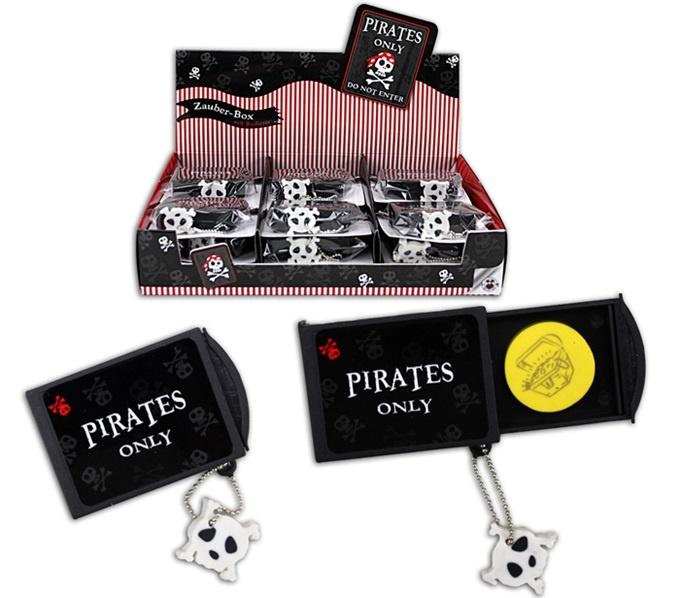 Piraten Zauberbox mit Radiergummi - ca 5,5x4,5x1,5cm
