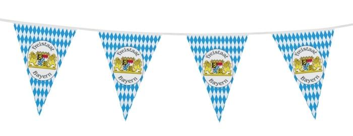 10-m-Wimpelkette Freistaat Bayern