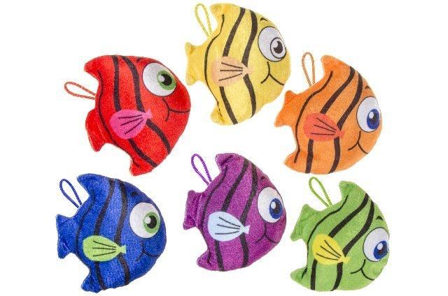 Fisch bunt 6 Farben sortiert - ca 13x13cm