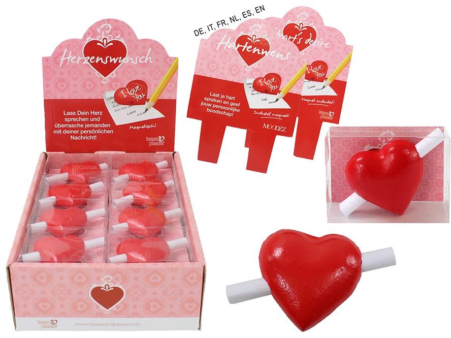 Herz für Herzenswunsch in Box ca 6,5x5x2cm