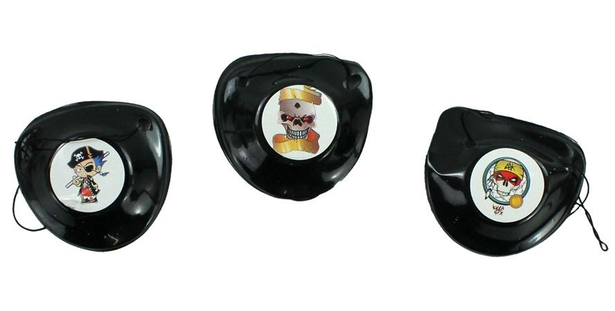 Piraten Augenklappe sortiert mit Band - ca 6x5,5cm