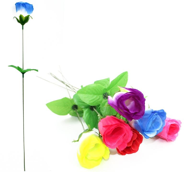 Rosenknospe 6 Farben sortiert ca 46 cm