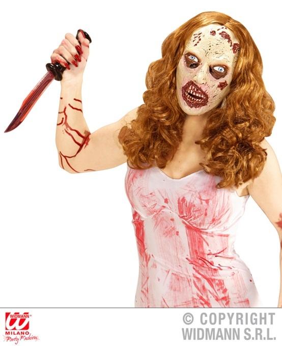 Maske Zombie Maske mit Haaren