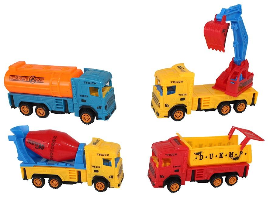 Baufahrzeug - 4 fach sortiert ca 14cm