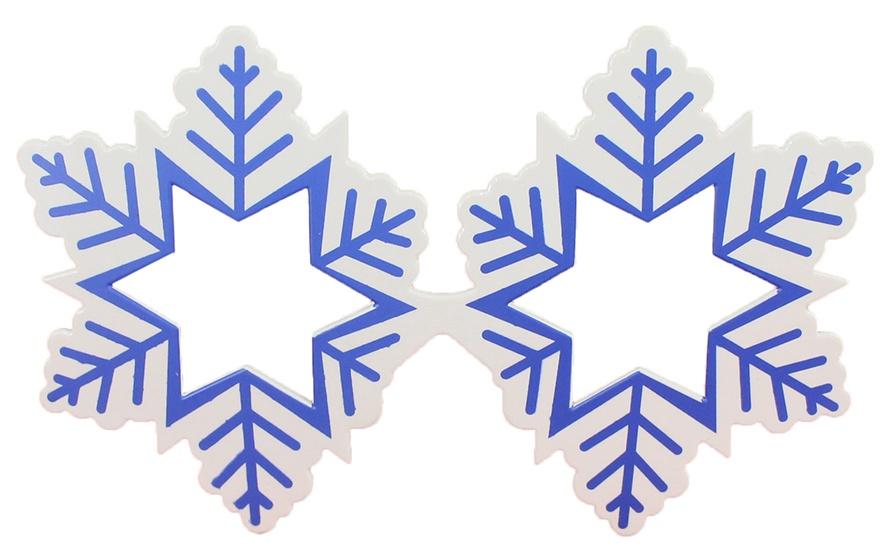 Brille Schneeflocke breit ca 15,5cm