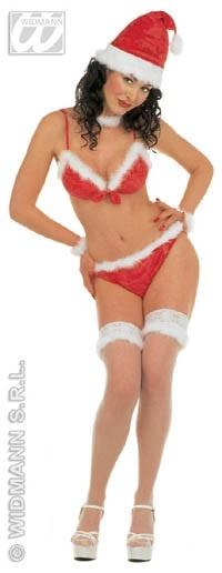 Kostüm - Set Bikini Miss Santa Größe M