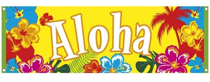 Banner ,Aloha, ca 220 x 74 cm
