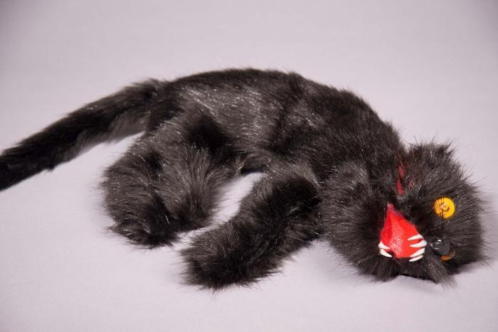 tote schwarze Katze, ca. 46 cm