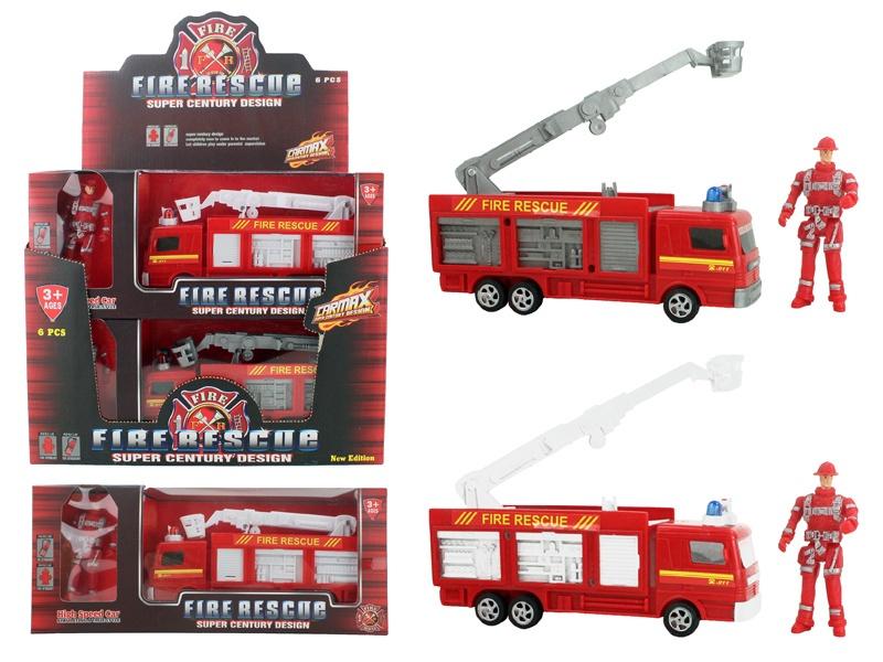 Feuerwehrwagen 2-fach sortiert mit Mann - ca 20cm