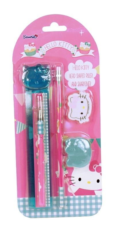 Hello Kitty  Schreibset 5teilig auf Karte 28,5x11cm