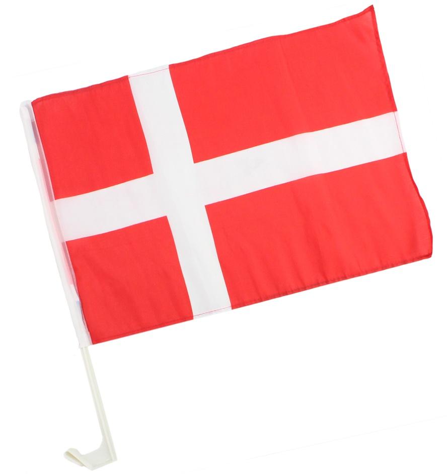 Autofahne Dänemark ca 45 x 30 cm