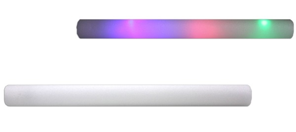 LED Schaumstoffstab blinkend, leuchtend mit 3 LEDs -ca 46 cm