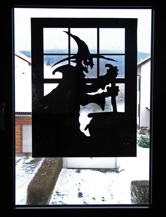 Fenster-Aufkleber Hexe, ca. 80 x 60 cm