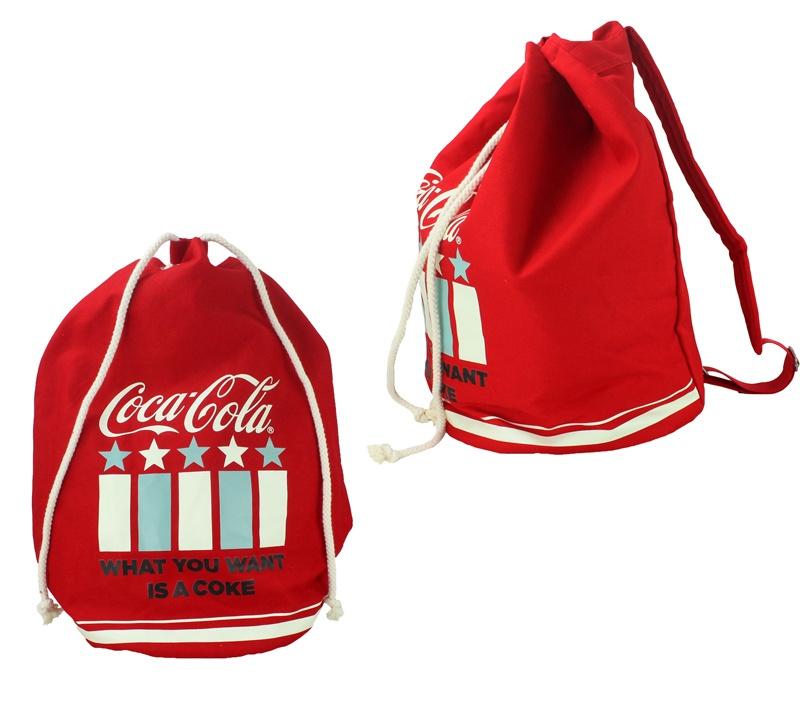 COKE AMERICANA Coca Cola Matchsack - ca 30x48 cm