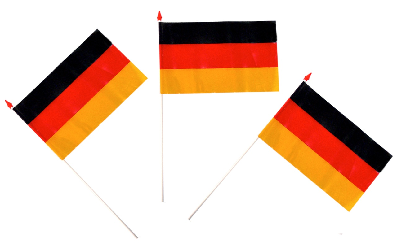 Deutschlandfähnchen ca 15x10 cm