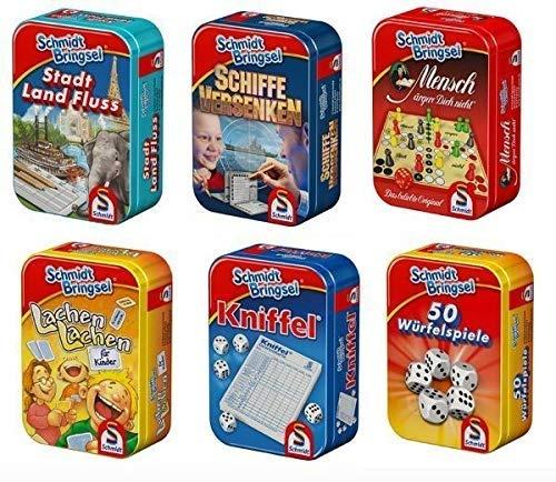 Schmidt Mitbringsel Mini-Spiele in Metallbox 6-fach