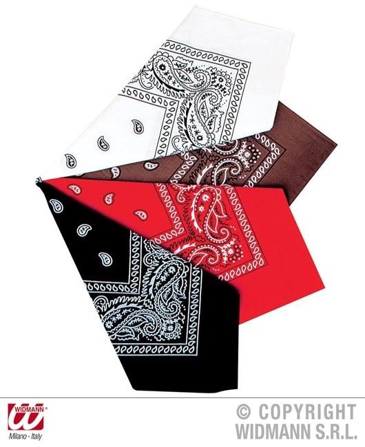 Halstuch in 4 Farben sortiert ca 55  x  55 cm