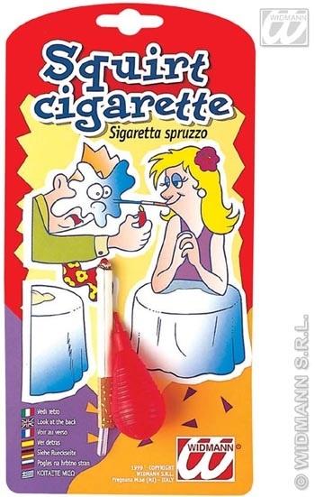 Scherz - Zigarette mit Wasserspritze auf Karte ca 23x12 cm