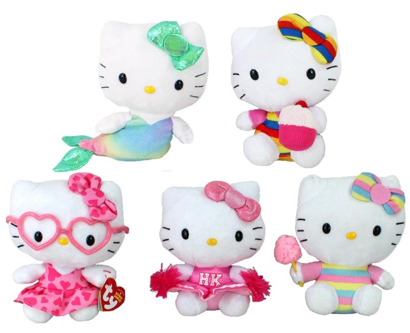 Hello Kitty 1-fach sortiert mit Beans - ca 15 cm